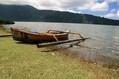巴厘岛beratan湖 图库摄影