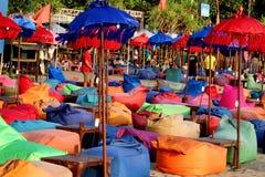 巴厘岛Canggu海滩酒吧 免版税库存图片