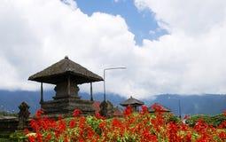 巴厘岛danau庭院印度尼西亚寺庙ulun 免版税库存图片
