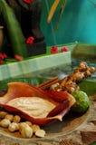 巴厘语印度尼西亚jamu温泉 库存照片