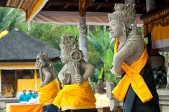 巴厘语守护程序雕象 免版税库存图片