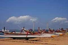 巴厘语小船 免版税库存照片