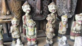 巴厘语工艺品特写镜头  免版税库存照片