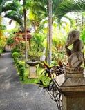巴厘语庭院环境美化 免版税图库摄影