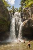 巴厘语瀑布 库存照片