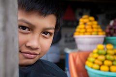 巴厘语男孩年轻人 图库摄影