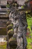 巴厘语石头雕象在印度寺庙 库存图片
