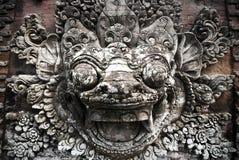 巴厘语石雕塑 图库摄影