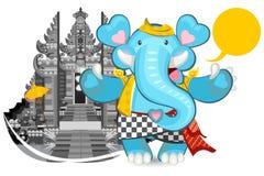 巴厘语蓝色大象ganesha 免版税库存照片