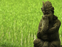 巴厘语雕象 免版税库存照片