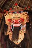 巴厘语barong舞蹈屏蔽 免版税图库摄影