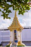 巴吞他尼府,泰国- 10月23,2017 :为准备嗯的皇家优点做仪式嘲笑已故的国王Bhumibol 库存图片