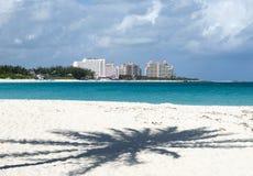 巴哈马天堂海岛海滩 免版税库存图片