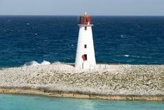 巴哈马天堂海岛灯塔 库存图片
