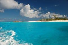 巴哈马海滩 免版税库存图片