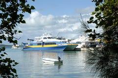 巴哈马高速渡轮港口海岛 库存图片