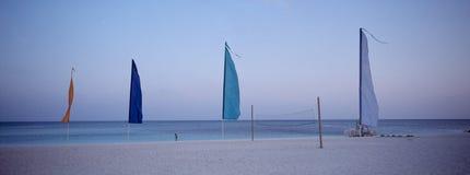 巴哈马黄昏风帆 库存照片