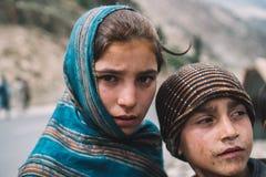 巴基斯坦可怜的孩子 免版税库存照片