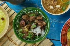 巴基斯坦羊羔咖喱 免版税库存照片