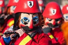 巴塞尔狂欢节,传统长笛演员 免版税库存图片