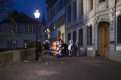 巴塞尔狂欢节2018年在瑞士 免版税图库摄影