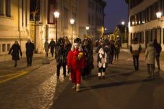 巴塞尔狂欢节2018年在瑞士 免版税库存照片