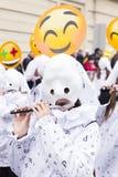 巴塞尔狂欢节2018游行在瑞士 库存照片