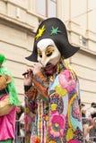 巴塞尔狂欢节2018游行在瑞士 免版税库存照片