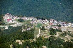 巴塞罗那修道院奥林匹克安排普遍的寺庙村庄 免版税库存照片