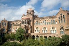 巴塞罗那卡塔龙尼亚de hospital sant的波城 库存照片
