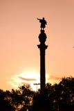 巴塞罗那哥伦布状态 库存照片