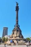 巴塞罗那哥伦布纪念碑西班牙 免版税库存图片