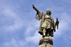 巴塞罗那哥伦布雕象 免版税库存图片