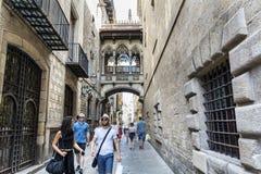 巴塞罗那哥特式季度 免版税库存照片