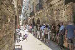 巴塞罗那哥特式季度 免版税图库摄影