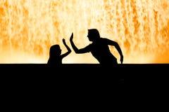 巴塞罗那唱歌喷泉 图库摄影
