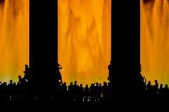 巴塞罗那唱歌喷泉 免版税库存照片