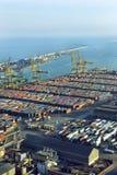 巴塞罗那商务端口 免版税库存图片