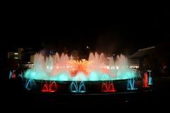 巴塞罗那喷泉魔术 免版税库存图片