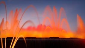 巴塞罗那喷泉魔术montjuic西班牙 免版税库存照片