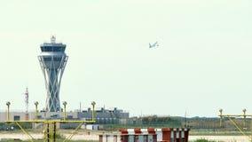 巴塞罗那国际机场雷达交通控制塔 股票录像