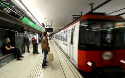 巴塞罗那地铁 库存照片