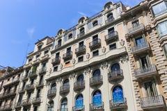 巴塞罗那大厦 免版税库存图片