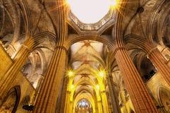 巴塞罗那大教堂哥特式西班牙 免版税库存图片