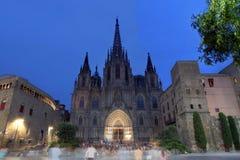 巴塞罗那大教堂,西班牙 库存照片
