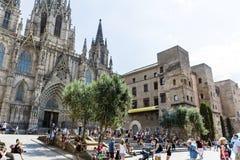 巴塞罗那大教堂 库存照片