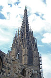 巴塞罗那大教堂 免版税库存照片