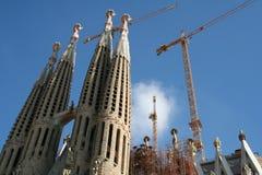 巴塞罗那大教堂famiglia sagrada西班牙 免版税库存照片