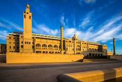 巴塞罗那奥林匹克体育场 免版税库存图片