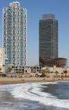 巴塞罗那奥林匹克端口 免版税库存图片